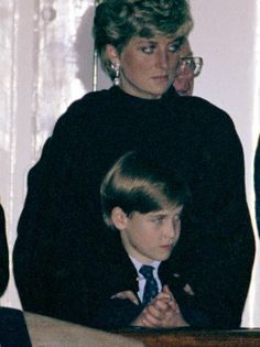 Beautiful Princess Diana and Prince William aboard the Royal Yacht Britannia during the Royal tour of Canada.