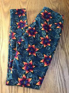 1ff745637de5d6 Lularoe OS Leggings Green Teal Orange Flowers Floral #fashion #clothing  #shoes #accessories #womensclothing #leggings (ebay link)