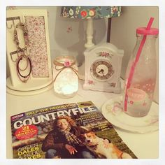 Well off to bed to read my magazine  goodnight everyone! It's back to work tomorrow for me loved this half term it's been so productive!  #happy #Sunday #relaxing #countryfile #bbc #happy #choosehappy #bottle #water #vintage #vintagehome #vintagechic #vintagelife #cathkidston #shabbychic #shabbyhomes #shabbyyhomes #shabbyinterior #shabbychicdecor #shabbychiclover #goodnight by stephs_stuff_x