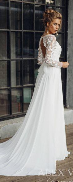 Wedding dress 'CATHERINE' // lace wedding dress, long sleeve wedding dress, convertible wedding dress, transformer, 2-in-1 wedding dress #laceweddingdresses