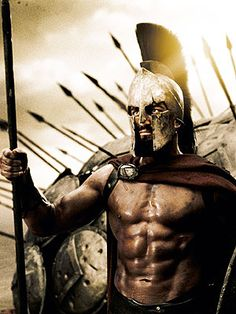 """The 300 Workout:    Gerard Butler (who plays King Leonidas in 300) told Men's Health: """"You know that every bead of sweat falling off your head, every weight you've pumped — the history of that is all in your eyes.  That was a great thing, to put on that cape and put on that helmet, and not have to think, shit, I should have trained more. Instead, I was standing there feeling like a lion.""""    Link to video demonstration on Youtube."""