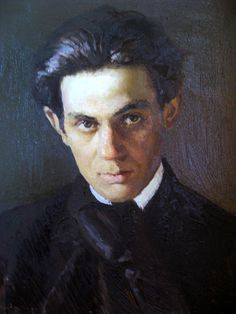 Oil Painting - Self-portrait Egon Schiele (original is a photo. artist of the painting is unknown)