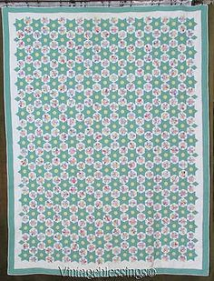 MASTERPIECE-Vintage-1939-Tiniest-Ever-Stars-QUILT-Showstopper-Collectible