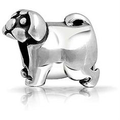 Bling Jewelry Pug Puppy Dog 925 Sterling Animal Bead Fits Pandora Beads Charms