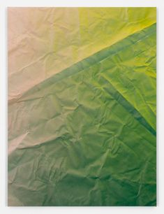 Tauba Auerbach, Untitled (Fold), 2012 Acrylic paint on canvas on wooden… Tauba Auerbach, Subtractive Color, Artistic Installation, Text On Photo, Thing 1, Color Stories, Op Art, Acrylic Painting Canvas, Contemporary Paintings