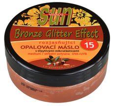 Opalovací máslo s arganovým bio olejem pro rychlé zhnědnutí s třpytivým efektem.