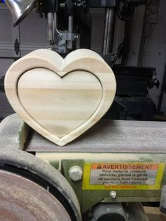 Heart Shaped Ring box prior to finishing