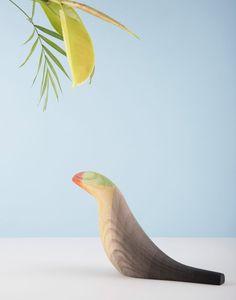 Moisés Hernández designs minimal dip-dyed versions of tropical birds