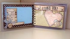 JustRite Entry #12 Katie Piotrowski - additional view of Baby Brag Book made from recycled Spellbinders Packaging.