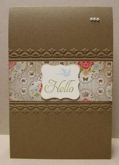 SU Framed Tulip Embossing folder - using it horizontally instead of all around the card.  Great idea!