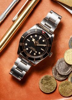 The Tudor Black Bay Fifty-Eight Modern Watches, Vintage Watches For Men, Stylish Watches, Luxury Watches For Men, Amazing Watches, Cool Watches, Timex Watches, Men's Watches, Male Watches