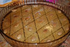 Passover Tishpishti - Turkish-style Almond Cake with Honey-Lemon Syrup