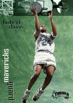 RARE 98/99 SKYBOX THUNDER HUBERT DAVIS DALLAS MAVERICKS MINT