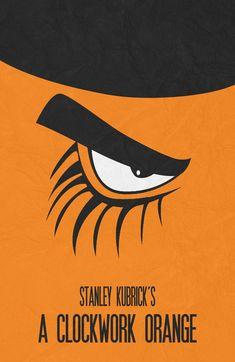 A Clockwork Orange (1971) ~ Minimal Movie Poster by Begum Ozdemir