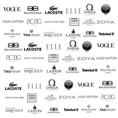fashion brand logos