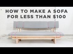 EP91 DIY Sofa For Under $100 Pretty sure this is the coolest thing ever!