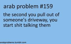 YEP.....I can relate....ARAB PROBLEMS.