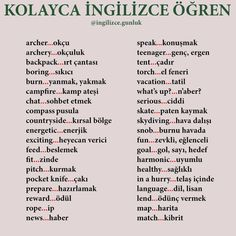 English Lessons, Learn English, Turkish Lessons, Learn Turkish Language, Adverbs, Foreign Languages, T 4, English Language, Teaching