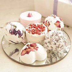 DIY bath bombs - you can add colouring, and essential oil for different scents