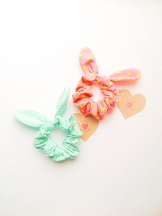 Bunny-ear details have singlehandedly revived the scrunchie. #etsyfinds #etsygifts