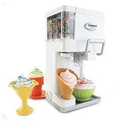 Cuisinart Ice Cream Maker Frozen Yogurt Sorbet Soft Serve Robot-like Freezer Soft Serve Machine, Sundae Party, Condiment Holder, Making Homemade Ice Cream, Mantecaditos, Ice Cream Maker, Living At Home, Frozen Yogurt, Gastronomia
