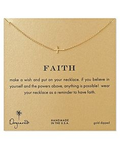 """Dogeared Gold Whisper Cross Necklace, 18"""" 