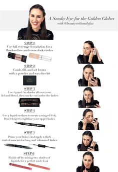 @beautyemilyfox shows you how to create a stunning smoky eye look in just 6 simple steps! #GoldenGlobes