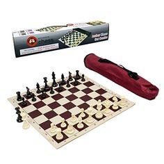 Solid Plastic Quiver Chess Set Combination Neon Purple Bag Purple Board