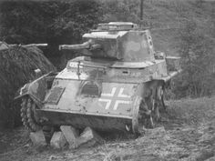Knocked out Toldi I tank. The vehicle has been stripped for parts. Defence Force, The Third Reich, Ww2 Tanks, Axis Powers, Panzer, Armored Vehicles, Military History, Hungary, Military Vehicles