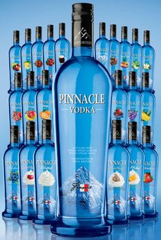 Pinnacle Vodka. would love to try every one! some of these i've never seen!