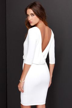 LULUS Exclusive All or Nothing Ivory Backless Dress at Lulus.com!