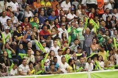 La afición bellanita acompañando a su equipo en la gran final de la Liga Argos Futsal.