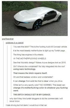 My friend and I are now legitimately planning to buy this car when we have enough money, not even jokingly