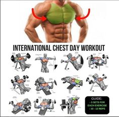 Chest work out Fitness Workouts, Fitness Motivation, Fitness Tips, Chest Day Workout, Chest Workouts, Ultimate Chest Workout, Chest And Tricep Workout, Chest Exercises, Bodybuilding