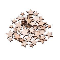 100 Pcs/ensemble Romatic Style Étoile En Bois 0,63 cent