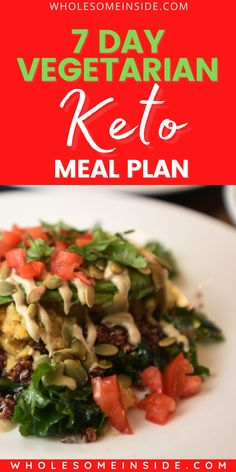 😫Tired of making your own keto meals for a week? 🤔 Here we have come up with a 7 Day Vegetarian EASY Keto Meal Plan that you'll surely love 🥦🥑 CLICK THE LINK 👉to check out the easy keto recipes😍👌