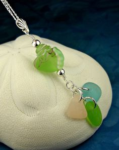 Conch Shell Lampwork Bead And GENUINE Sea by seaglassgems4you, $58.00