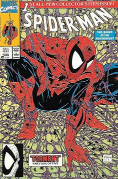 Torment: Part 1 __art and cover by Todd McFarlane , Right out of the gate the wall-crawler will be challenged like never before as mysterious and ominous drums in the distance are driving the savage L