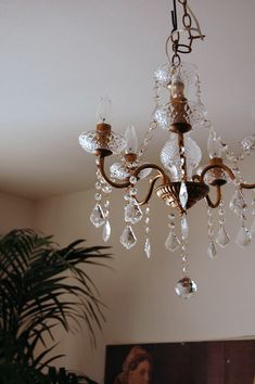 this cut glass chandy is a twin to Corbins - located in Japan via Design Sponge