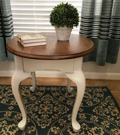 Painted And Distressed Queen Anne Coffee Table And By