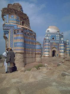 "Shrine of Bibi Jawindi, Uch Sharif, Punjab, Pakistan, 14th century. Also known as ""Alexandria at the Head of the Punjab"""