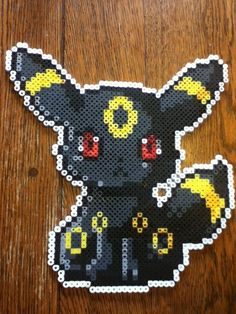 Umbreon - perler beads by EeveePower.deviantart.com on @deviantART