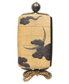 A rare lacquer and kiri-wood four-case inro. By Shibata Zeshin (1807-1891), Meiji Period. Photo: Bonhams