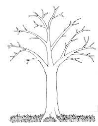 Print Tree Without Leaves Coloring Page And Let Your Child To Draw Them