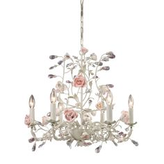 ELK Lighting 8092/6 Heritage 6 Light 1 Tier Chandelier Cream Indoor Lighting Chandeliers