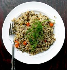 How To Cook Quinoa... Used green pepper instead of celery and it was delish!