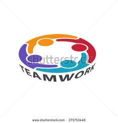 Teamwork Management People Group Logo. Vector graphic