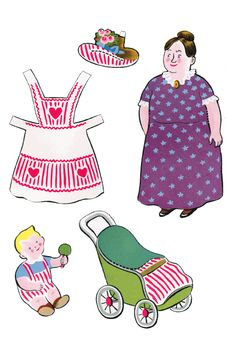 Peppermint Village Family Paper Dolls | Purple Kitty