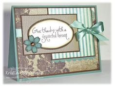Thank you card by Kristina B using Verve Stamps.