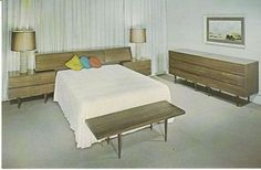Vintage Postcard Smilow-Thielle Danish Modern Furniture Store Mid-Century NY